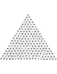 SODIAL(R) 200 pieces blanc, chiffres ronds perles espaceurs 7mm