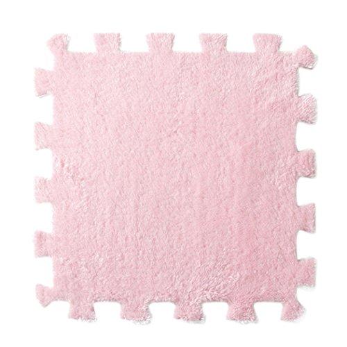 Preisvergleich Produktbild Haushalt Teppich,Jaminy 6 PC Eva Eco Puzzle Teppich Mosaikfliesen Wohnzimmer Polster Teppich 6X30X30cm (Rosa)