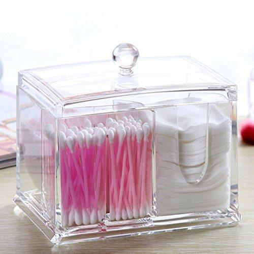 Bo te coton tige pad acrylique transparent bo te de - Rangement maquillage en acrylique ...