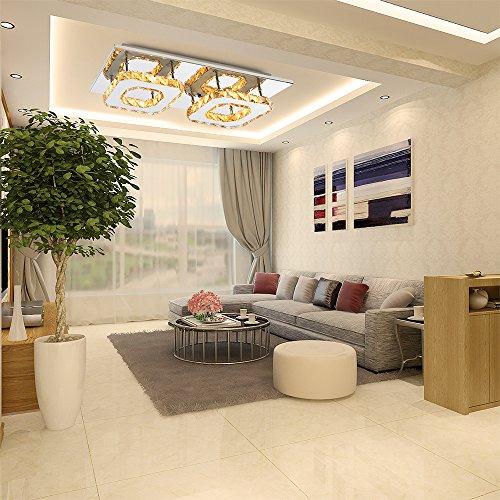 Etime Deckenleuchte Modern Deckenlampe LED Edelstahl Wandleuchte Kronleuchter  Für Flur, Gang, Balkon, Schlafzimmer