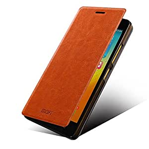 buy online b8b3c a0f51 Mofi Premium Leather Flip Cover Case for Lenovo K3 Note - Brown