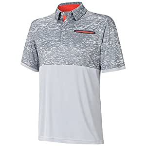 2015 Adidas Climacool Sport Digital Print Performance Mens Golf Polo Shirt Mid Grey/Vista Grey XXL