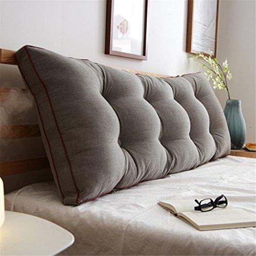 Gewaschenes Baumwoll-Kopfteil-Kissen Sofa-Bett-Kopf einzelnes doppeltes Kissen weiches Beutelbettkissen Bedside Leseraum-Rückenlehne ( Farbe : E , größe : 180*20*50CM )