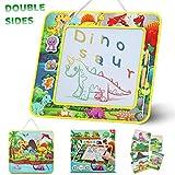 lenbest Lavagna Magica a Tema Dinosauro, Cancellabile & Portatile Tavolo da Disegno Magnetico per Bambini con 3 Timbro Magnetico e 6 Carte Comiche, Giocattoli Educativi per Bambini Regalo