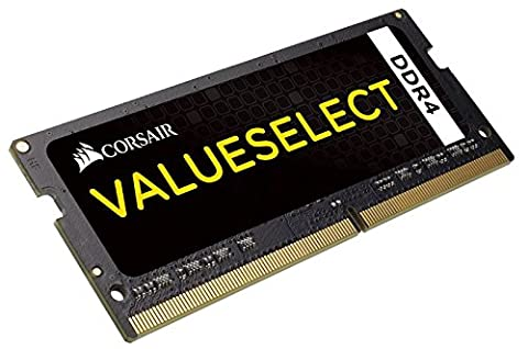 Corsair CMSO8GX4M1A2133C15 Value Select 8 GB (1 x 8 GB) DDR4 2133 MHz CL15 Mainstream SODIMM Notebook Memory Module - Black
