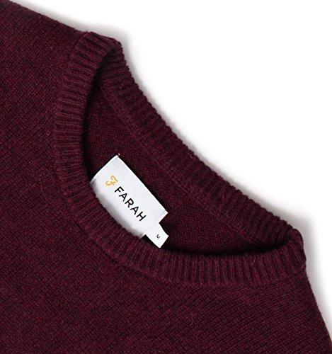 Farah Vintage Homme Rosecroft Logo Knit, Rouge Rouge