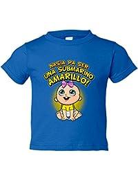 Camiseta niño nacida para ser una Submarino Amarillo Villarreal fútbol
