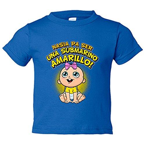 Camiseta niño nacida para ser una Submarino Amarillo Villarreal fútbol - Azul Royal, 3-4 años