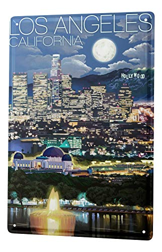 Blechschild Fernweh Stadt Los Angeles USA
