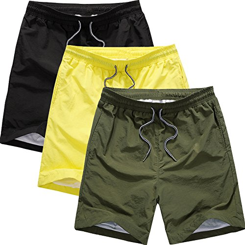 Jessie Kidden -  Pantaloncini  - Donna 3Pack:Black/Yellow/Army Green