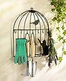 Wenko 5857090500 Schlüssel, Organizer Vogelkäfig, 8 Schlüsselhaken, Eisen, 35 x 42 x 8,5 cm, schwarz