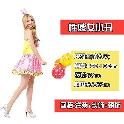 ChengBai der Clown Kostüm Halloween Kinder clothingcosplay lustige Clown zeigt Kleidung mit männlichen und weiblichen Erwachsenen Kit, 54 # sexy weiblichen Clown (Code) erwachsenen weiblichen (Sexy Geek Kostüme)