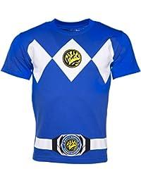 Herren Blue Power Ranger Kostm T Shirt