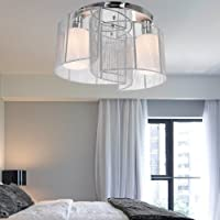 Saint Mossi Modern Chandelier Lighting Flush mount LED Ceiling Light Fixture Pendant Lamp for Dining Room Bathroom Bedroom Livingroom Diameter 40 cm x Height 23 cm by Saint Home