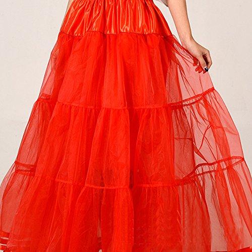 Honeystore 1950's Knöchellänge Vintage Rockabilly Petticoat Retro Ballett Tutu Reifrock Unterrock Underskirt Braut Party Hochzeit HALLOWEEN FASCHING KARNEVAL Rot