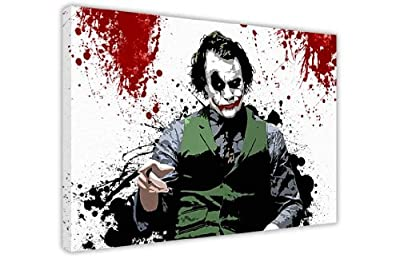 Iconic Batmans Joker With Blood Splatter In Room Pop Art Large Canvas Prints Wall Art Landscape Pictures