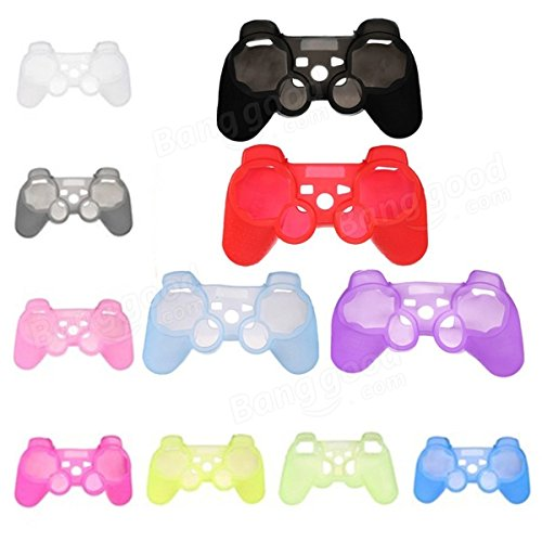 Generic Silicone Protective Skin Case Cover For Sony PlayStation 3 PS3 Controller (White)