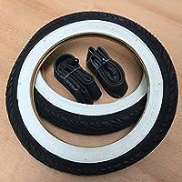 2x Duro Weißwand 12 Zoll Reifen & Schlauch AV 12 1/2 x 1.75 x 2 1/4 | ETRTO: 47-203 Fahrrad Kinderwagen Roller