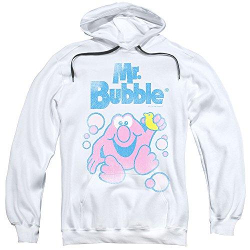 mr-bubble-80s-felpa-con-cappuccio-da-uomo-con-logo-bianco-bianco