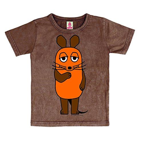 Logoshirt TV - Die Sendung mit der Maus - Die Maus Vintage T-Shirt Kinder - Braun - Lizenziertes Originaldesign, Größe 92/98, 2-3 ()