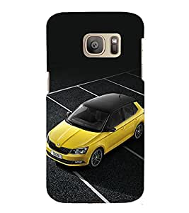 printtech Superfast Car Back Case Cover for Samsung Galaxy S7 edge / Samsung Galaxy S7 edge Duos with dual-SIM card slots