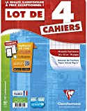 Clairefontaine Metric Cahier Grands carreaux sans spirales 96 pages 24 x 32 Assortis Lot de 4