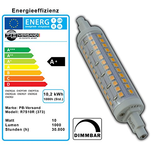 R7s LED 10 Watt dimmbar – warmweiß – 3000K - 3