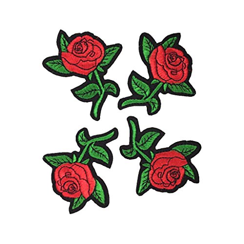 Gazechimp Chic Stickerei Rose Pa...