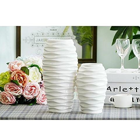 THANLY Simple Ripple Glazed Ceramic Decorative Ceramic Art Porcelain Vase