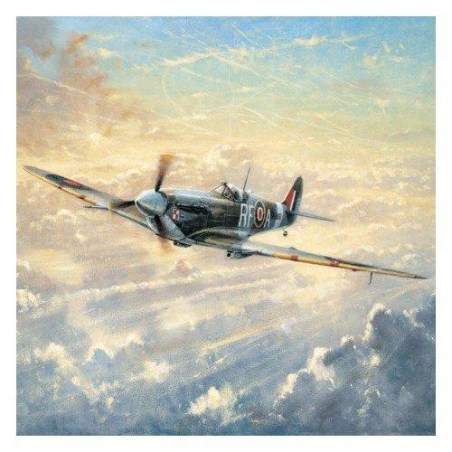 Dawn Patrol Spitfire - Grußkarte - Square