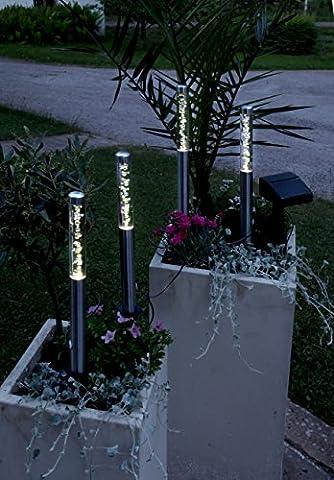 Lot de 4 pièces à énergie solaire lED décorative d'extérieur/jardin/pathlights