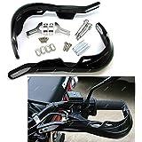 """ICTRONIX Paar Schwarz Universal Motorrad/ATV Bike Handprotektoren Handschützer Protektor Handschutz 22mm 7/8"""" für Yamaha Suzuki (Passt nicht zu beta)"""
