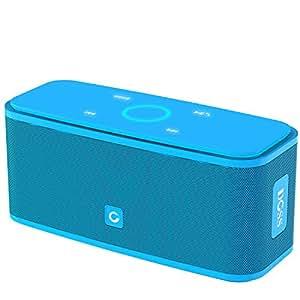 DOSS - Altoparlante Portatile Bluetooth 4.0 con pulsanti sensibili al tatto e suono e bassi ad alta definizione durata 12 ore (Azzurro)