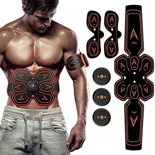 ZHENROG Elettrostimolatore Muscolare,EMS Stimolatore Addominale, Elettrostimolatore per Addominali,Cinture tonificanti,Addome/Braccio/Gambe/Waist/Glutei Massaggi-Attrezzi,USB Ricaricabile-Uomo/Donna