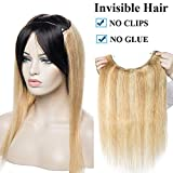 16 inch One Piece Secret Wire in Human Hair Extensions 100% Remy Invisible