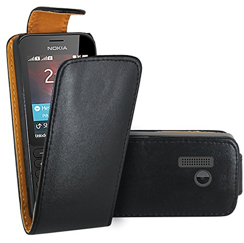 Nokia 215 Hülle, FoneExpert® Hülle Case Cover Hüllen Etui Ledertasche Premium Lederhülle Schutzhülle für Nokia 215