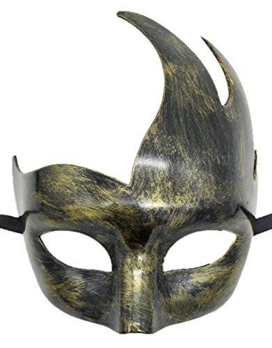 Máscara de la mascarada veneciana para hombre Diseño clásico Prom Mardi Gras Máscaras (Oro antiguo)