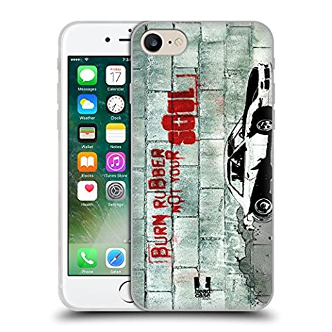 Head Case Designs Burning Rubber Christian Rider Soft Gel Case for Apple iPhone 7