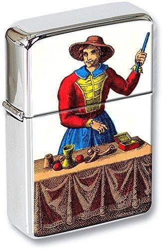 Tarot (Le Bateleur, el mago ) Mechero con tapa EN UNA LATA DE REGALO