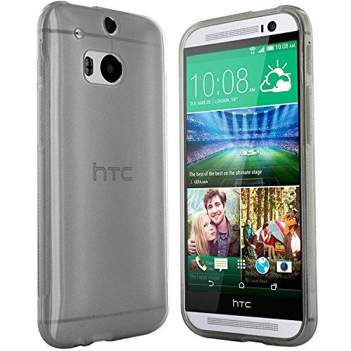 moodie Silikonhülle für HTC One M8 Hülle in Anthrazit-transparent - Case Schutzhülle Tasche für HTC One M8