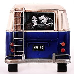 metall rahmen bus r ckseite blau bilderrahmen nostalgie 20 x 21 cm. Black Bedroom Furniture Sets. Home Design Ideas