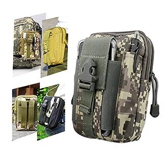 A-SZCXTOP Taktische Taille Pack, Mehrzweck MOLLE EDC Utility Gadget Beutel Taille Tasche mit Handy Holster, Leicht, Langlebig und Portable, ideal zum Laufen, Wandern, Jagen