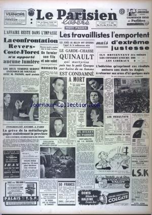 PARISIEN LIBERE EDITION DE PARIS (LE) [No 1696] du 25/02/1950