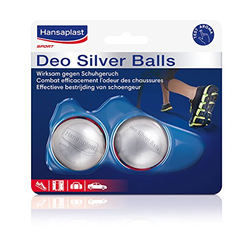 Hansaplast 2er Pack Schuh-Erfrischer, Geruchsbeseitigung, 2 x 2 Stück, Silver Balls