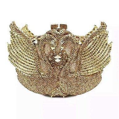 Heart&M Damen PU Metall Formell Veranstaltung Fest Hochzeit Unterarmtaschen Gold
