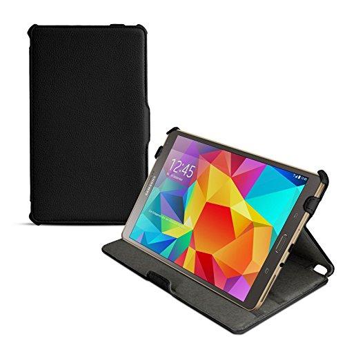 eFabrik Ultra Slim Case für Samsung Galaxy Tab S 8.4 Tasche Hülle mit Aufstellfunktion und Auto Sleep/Wake Up Funktion aus hochwertigem Kunstleder, schwarz