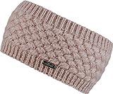 Feinzwirn Strick-Kopfband mit Fleece innen für Damen - warmes Stirnband Haarband (Rose)