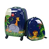 "DreamHannk 2 pcs ABS Kids Suitcase Backpack Set,16"" Carry On Luggage with Spinner"