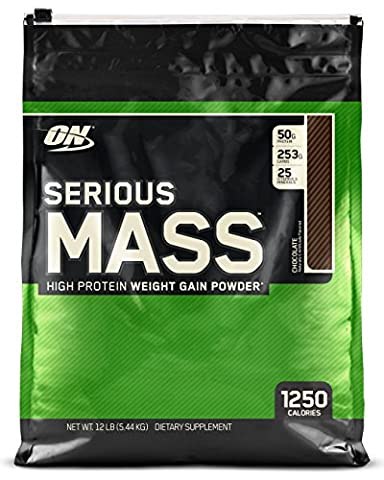 Optimum Nutrition Serious Mass Weight Gain Powder, 5.45 kg - Chocolate