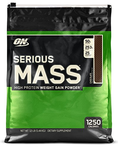 Optimum Nutrition Serious Mass Weight Gain Powder, 5.45 kg - Chocolate Test